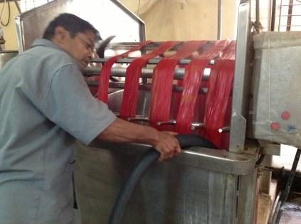 Dyeing sarees