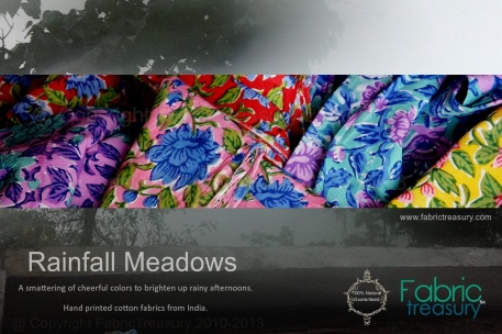 Rainfall Meadows Indian Hand Block Prints