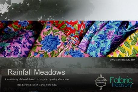 Rainfall Meadows Indian Hand Block Prints