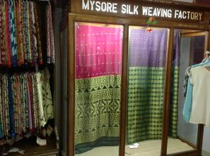 Mysore Silk treasures at KSIC shop