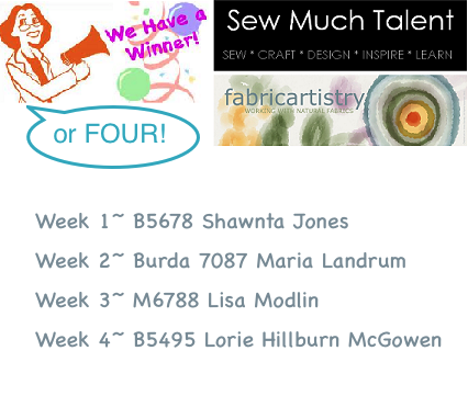 September Sew-a-Long 2013 Winners