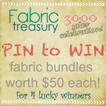 PIN to WIN - Celebrating 3000 Sales at FabricTreasury
