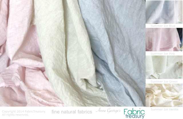 Summer Ice linen fabrics